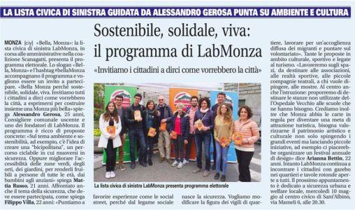 Bella, Monza sostenibile, solidale, viva.